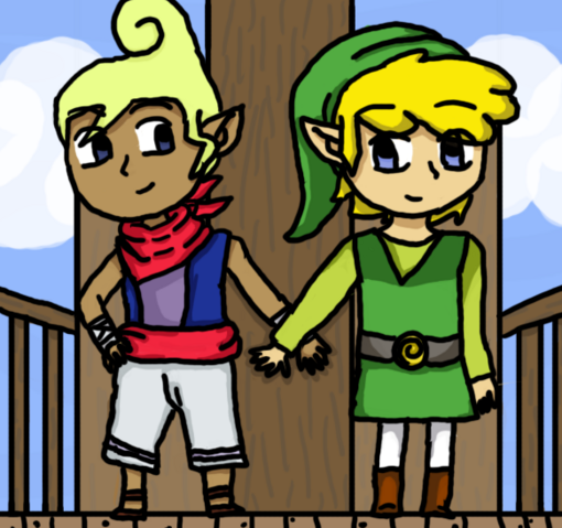 File:Tetra and link by dustyfootwarrior-d6ecr1v.png