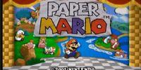 Pay-per Mario (A Paper Mario 64 Creepypasta)