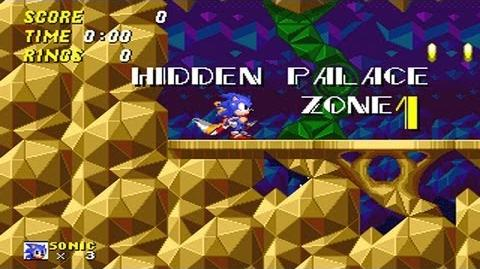 Sonic 2 Beta - Hidden Palace Zone Gameplay