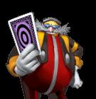 Eggman Nega with a card