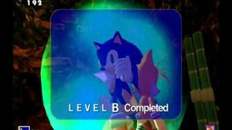 Sonic Adventure DX (GC) Sonic - Red Mountain Missions Level B and A