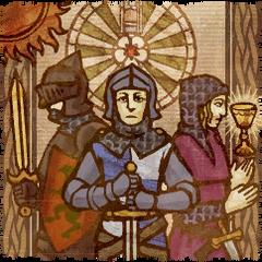 Gawain como es retratado en la leyenda de Arturo.