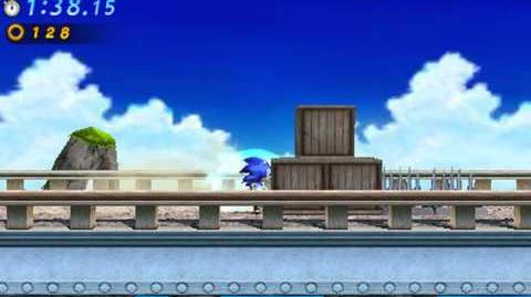 Sonic Generations 3DS - Classic Emerald Coast