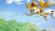 Tails in the air
