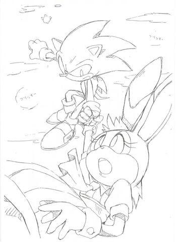 File:Vanilla Sonic Sonic advance 2 ending SonicX concept art.jpg