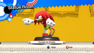 Knuckles the Echidna statue