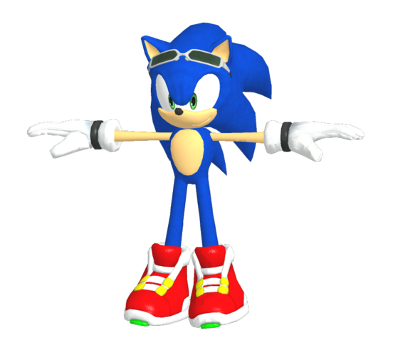 File:Sonic model (Sonic Free Riders).png