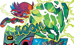 Knuckles Shatters Emerald Again