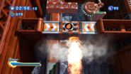 Orange Rocket Hitting ceiling Sonic Generations