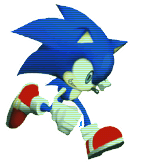 Sonic Running Rush No Black Clear