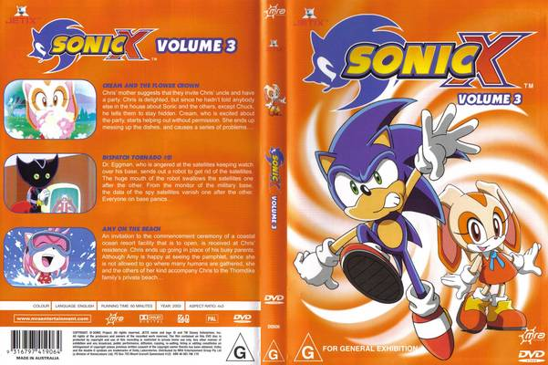 File:Sonic X Volume 3 AUS cover.jpg