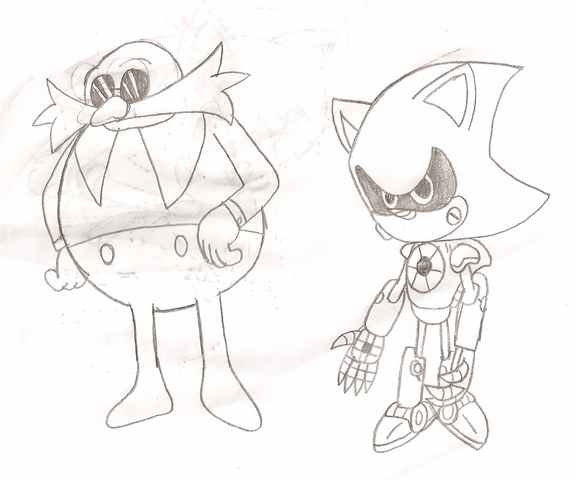 File:Dr. Robotnik and Metal Sonic.png