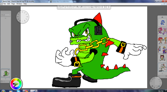 File:Vector the Crocodile By Metal.png