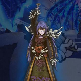 Dark Queen luchando con Sonic con su sombra.