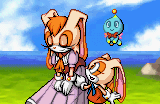 Sonic advance 2 ending artwork Cream and a relieved Vanilla