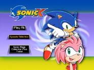 Sonic X Volume 8 AUS main menu