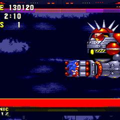 El Big Arm agarrando a Sonic