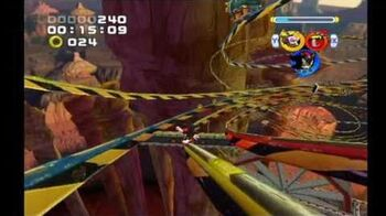 Sonic Heroes Rail Canyon (Team Dark)