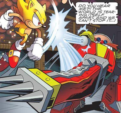 Super Sonic vs Eggman Robot in Genesis