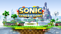 Sonic Generations 20 Day Demo Title Screen 720p