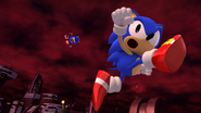 Metal Sonic being defeated (Sonic Generations)