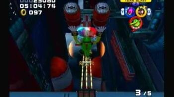 Sonic Heroes - Team Chaotix - Stage 14 Final Fortress (A-Rank)