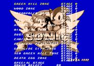 Level Select Sonic 2 Simon Wai Prototype