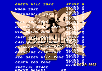Level Select Sonic 2 Simon Wai Prototype