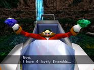 Eggman has 4 Emeralds (Sonic Adventure)