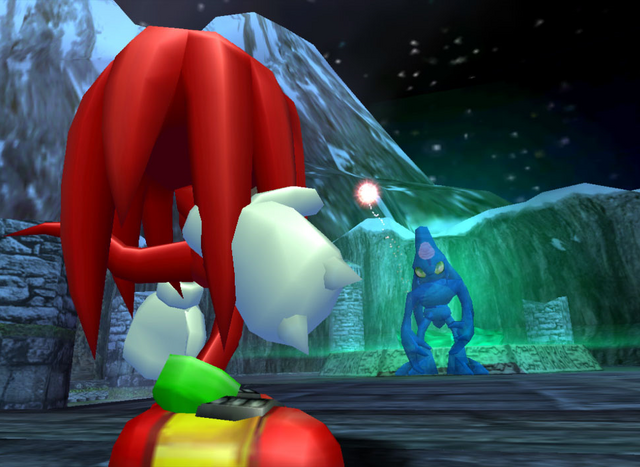 File:Knuckles facing Chaos.png
