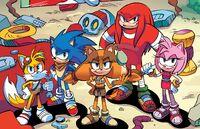 Team Sonic Sonic Boom Comic
