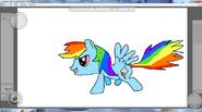 Rainbow Dash By Metal