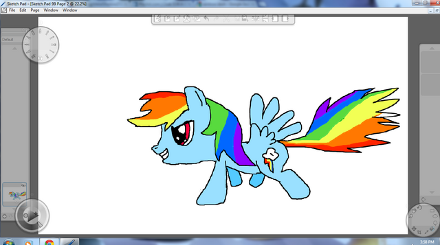 File:Rainbow Dash By Metal.png