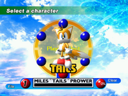Tails (Sonic Adventure Character Select)