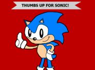 Thumbs Up for Sonic