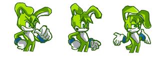 Sam the rabbit- sonic battle style
