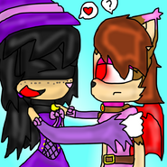 Pc selania hugging adelia and excited w by amyainrose-d5rjbp9