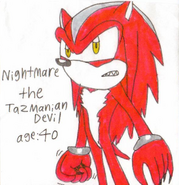 Nightmare the Tasmanian Devil
