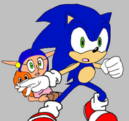 Sonic and Phyliss shocked