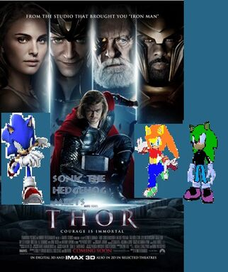 Sonic the Hedgehog meets Thor poster