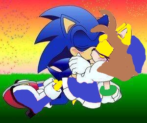 File:Sonic and Nancy kiss in Sonic Storm Adventures of Mockinjay.jpg