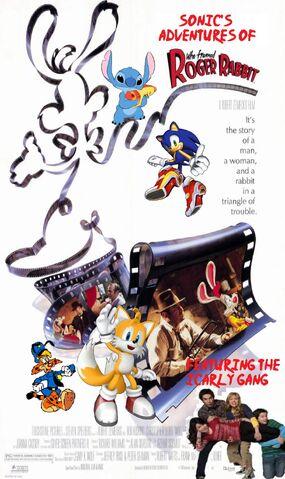 File:Sonic's adventures of Who Framed Roger Rabbit Poster.jpg