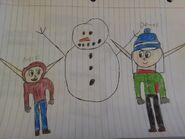 Damas and mack building a snowman by cameron33268110-da2tfsr
