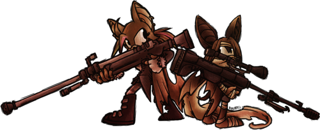 File:Bat girls with oversized guns by skittycat-d3hzdbl.png