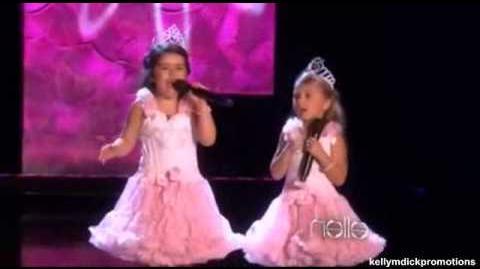 'Rolling in the Deep' cover- Sophia Grace & Rosie - The Ellen Show