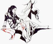 Samobójstwo Tissai de Vries; grafika Robert 'Blutengel' Łada