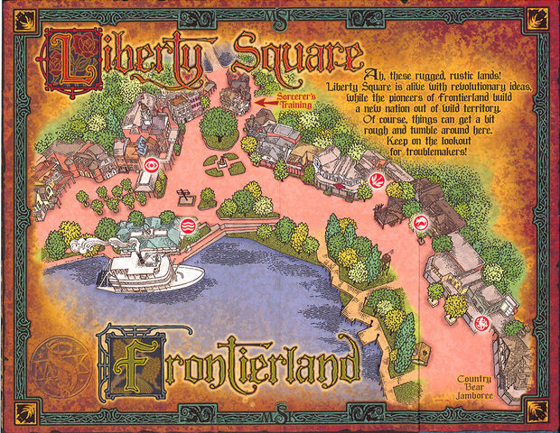 File:Sorcerers of the Magic Kingdom Map - Frontierland and Liberty Square.jpg