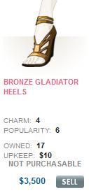 Bronze Gladiator Heels