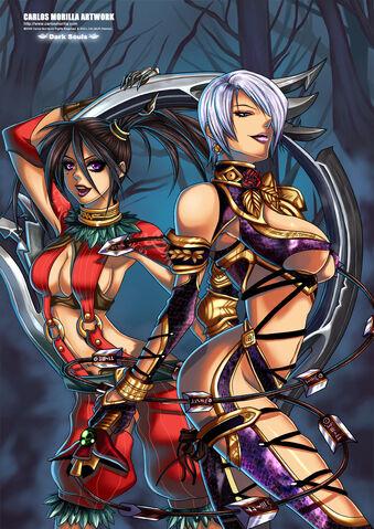 File:Ivy and Tira Dark Souls by carlosmorilla.jpg