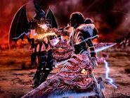 Chaos vs Dark Omega